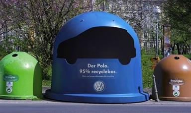 Volkswagen Car Recycling Bin